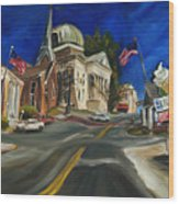 Athens Al Wood Print by Carole Foret