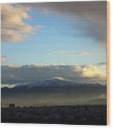 Athens Sunrise Wood Print by Julia Bridget Hayes