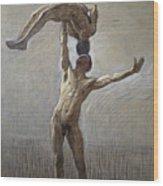 Athletes Wood Print