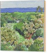 Atiu Lake View Wood Print
