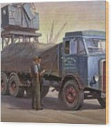 Atkinson At The Docks Wood Print