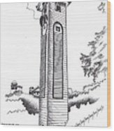 Atkinson Clock Tower Wood Print