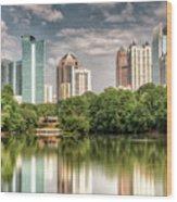 Atlanta As Viewed From Piedmont Park Wood Print