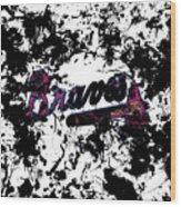Atlanta Braves 1b Wood Print