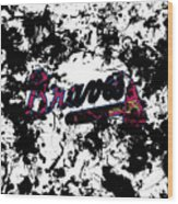 Atlanta Braves 1d Wood Print