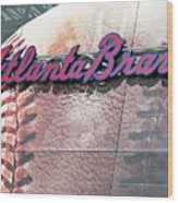Atlanta Braves Wood Print