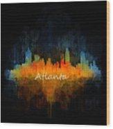 Atlanta City Skyline Uhq V4 Wood Print