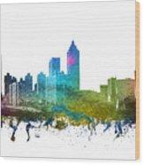 Atlanta Cityscape 01 Wood Print