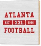 Atlanta Falcons Retro Shirt 2 Wood Print
