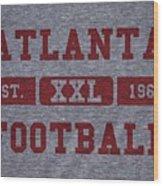 Atlanta Falcons Retro Shirt Wood Print
