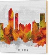 Atlanta Georgia Cityscape 15 Wood Print