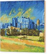 Atlanta Georgia Skyline 15 Wood Print