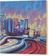 Atlanta Georgia Skyline 17 Wood Print