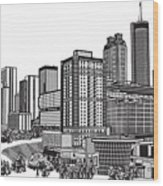 Atlanta Georgia Vector Wood Print