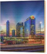 Atlanta Midtown Atlantic Station Starburst Atllanta Georgia Art Wood Print