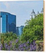 Atlanta Skyline From Atlanta Botanical Garden Wood Print
