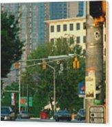 Atlanta Street Scape Wood Print