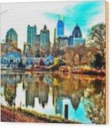 Atlanta The Great Wood Print