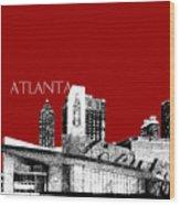 Atlanta World Of Coke Museum - Dark Red Wood Print