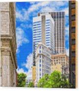 Atlanta's Flatiron On Peachtree Street Wood Print