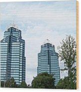 Atlanta's Royal Couple Wood Print