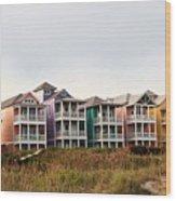 Atlantic Beach Nc   Beach Houses Wood Print