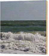 Atlantic - Beach - Waves Wood Print