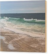 Atlantic Beach Waves Wood Print