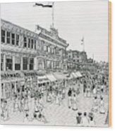 Atlantic City Boardwalk 1900 Wood Print