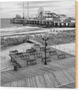 Atlantic City Boardwalk Wood Print