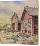 Atlantic City Ghost Town Wyoming Wood Print