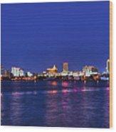 Atlantic City Skyline. Wood Print