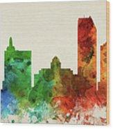 Atlantic City Skyline Panorama Usnjac-pa03 Wood Print
