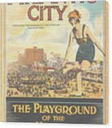 Atlantic City The Playground Of The Nation Wood Print