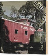 Atlantic Coast  Line Railroad Carriage Wood Print