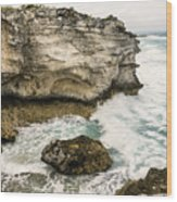 Atlantic Coastline In Bahamas Wood Print