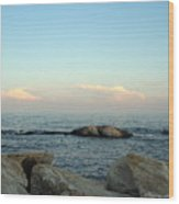 Atlantic Evening Wood Print