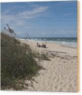 Atlantic Ocean On The East Central Coast Of Florida Wood Print