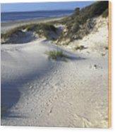 Atlantic Ocean Sand Dunes Wood Print