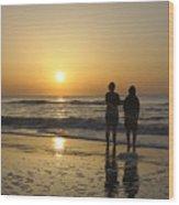 Atlantic Ocean Sunrise Wood Print