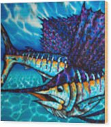 Atlantic Sailfish Wood Print