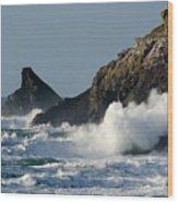 Atlantic Splash Wood Print