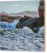 Atlantic Waves 2 Wood Print