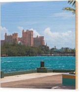 Atlantis Across The Harbor Wood Print