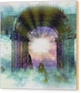 Atlantis Welcomes You Wood Print