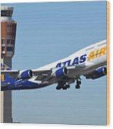 Atlas Air Boeing 747-446 N465mc Phoenix Sky Harbor January 12 2015 Wood Print