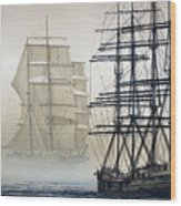 Atlas And Inverclyde Wood Print by James Williamson