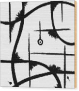 Atom Life Wood Print