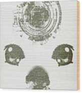Atomic Dog's Eyes Wood Print