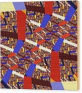 Atomic Link Wood Print